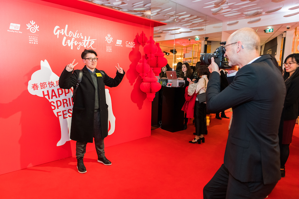 Photocall Galeries Lafayette