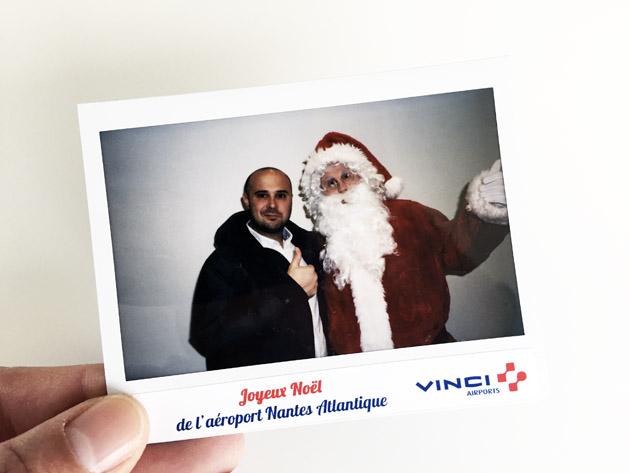 Animation Polaroid Pere Noel Vinci Aeroport Nantes Lensman