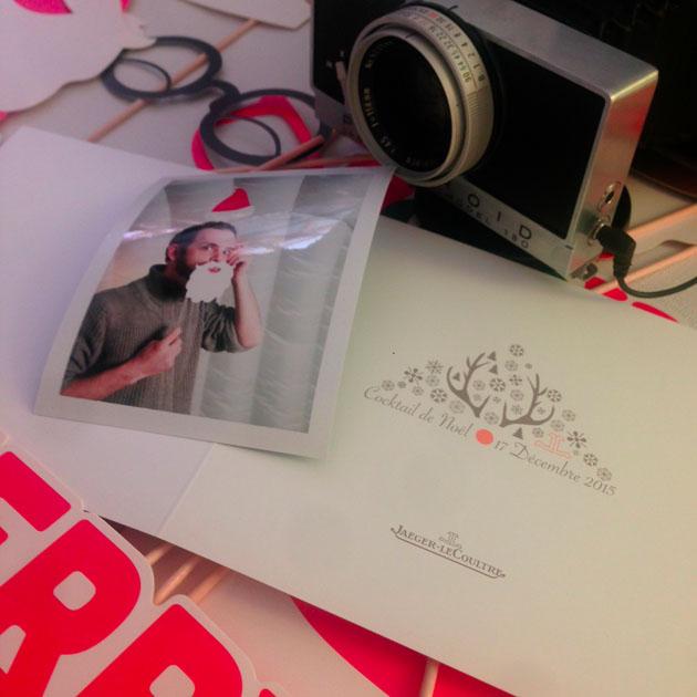 Photocall Polaroid Christmas Party Jaeger Lecoultre Suisse Lensman