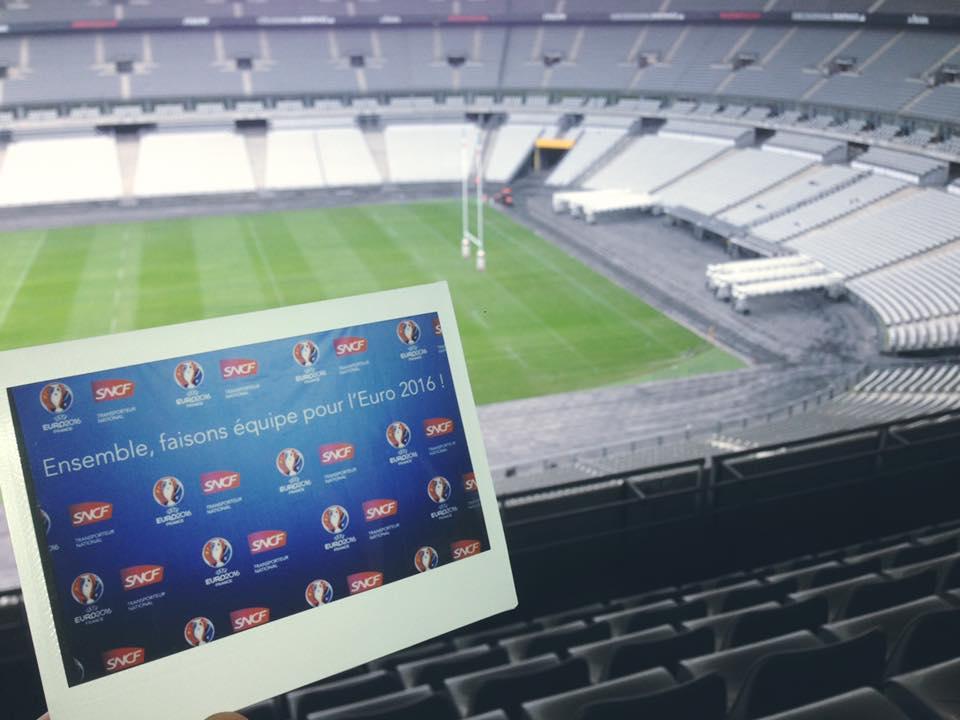 Photocall Polaroid stade De France SNCF Euro Lenman