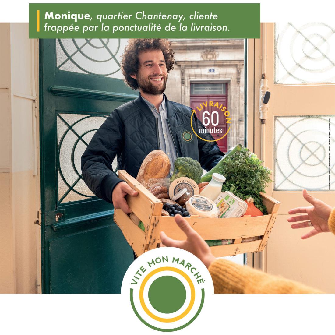 Campagne de publicité de Vite Mon Marché à Nantes